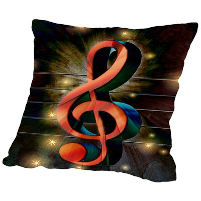 Clef Music Musically Cotton Throw Pillow Size: 16 H x 16 W x 2 D