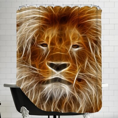 Lion Cat Animal Shower Curtain