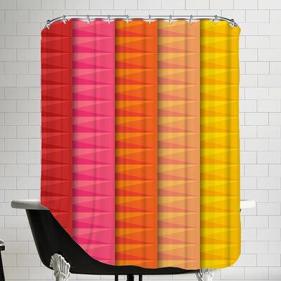 5 Colors of Art Shower Curtain