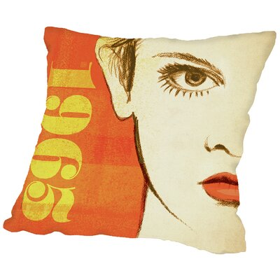 1965Face Throw Pillow Size: 14 H x 14 W x 2 D