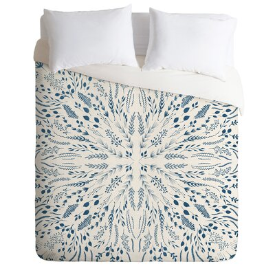 Maze Duvet Cover Set Size: King, Color: Indigo
