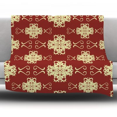 Asian Motif Damask by Mydeas Fleece Throw Blanket Size: 60 L x 50 W