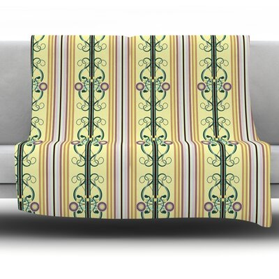 Blooming Trellis by Mydeas Fleece Throw Blanket Size: 80 x 60