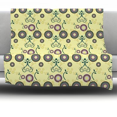 Spring Florals by Mydeas Fleece Throw Blanket Size: 80 L x 60 W