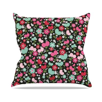 Love is Growing Throw Pillow Size: 20 H x 20 W x 4 D