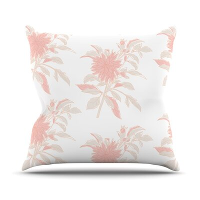 Pastel Fluers Throw Pillow Size: 16 H x 16 W x 3 D