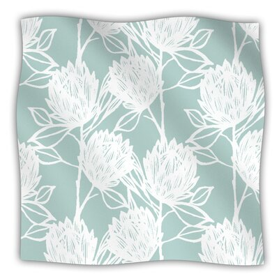 Protea Fleece Throw Blanket Size: 80 L x 60 W, Color: Jade White