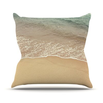 Waves Roll In Throw Pillow Size: 18 H x 18 W x 3 D