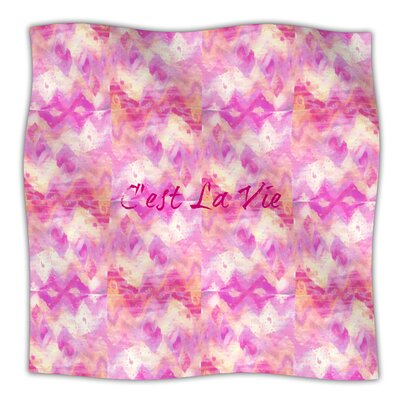 Cest La Vie Fleece Throw Blanket Size: 80 L x 60 W, Color: Pink