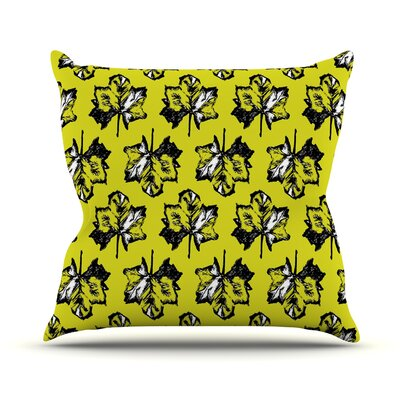 Tree Leaves Throw Pillow Size: 16 H x 16 W x 3 D