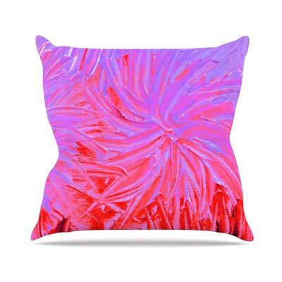 Water Flowers Crimson Lilac Throw Pillow Size: 20 H x 20 W x 4 D