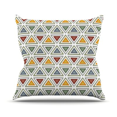 Triangles Throw Pillow Size: 20 H x 20 W x 4 D