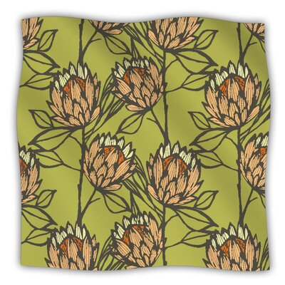 Protea Fleece Throw Blanket Size: 60 L x 50 W, Color: Olive