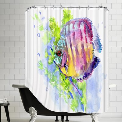 Discus Shower Curtain