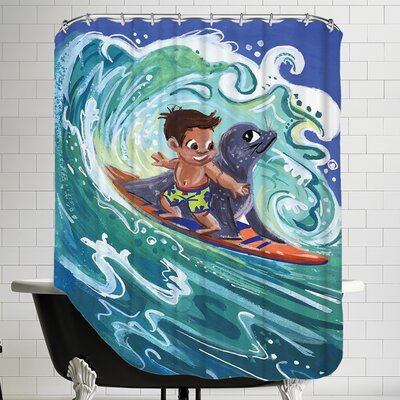 Leowensurfs Shower Curtain