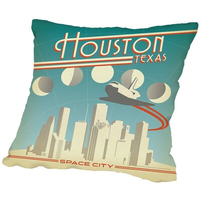 Houston Throw Pillow Size: 14 H x 14 W x 2 D