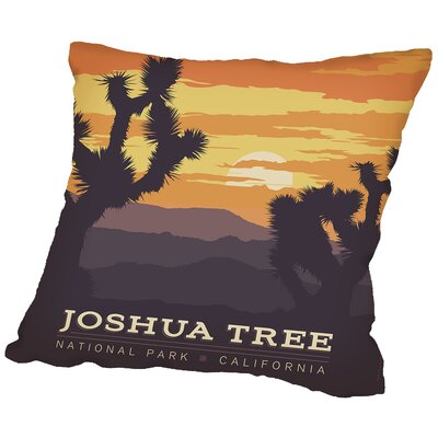 Joshua Tree Np Throw Pillow Size: 20 H x 20 W x 2 D