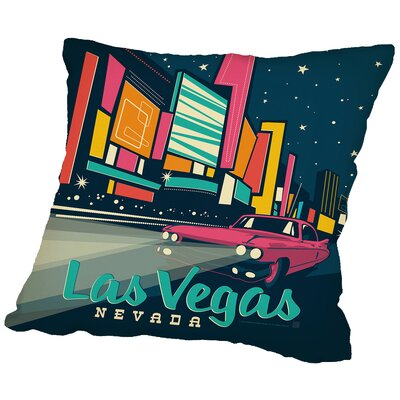 Lasvegas Throw Pillow Size: 14 H x 14 W x 2 D