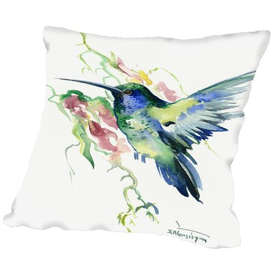 Hummibgbird Indigo Throw Pillow Size: 20 H x 20 W x 2 D