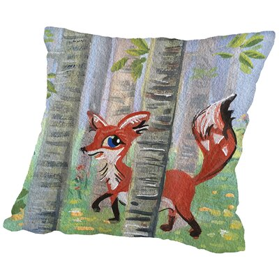 Devfox Throw Pillow Size: 18 H x 18 W x 2 D