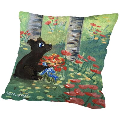 Devsbear Throw Pillow Size: 14 H x 14 W x 2 D