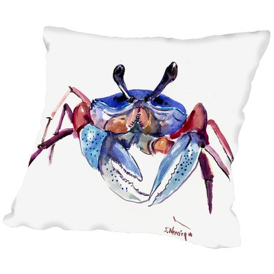 Crab Throw Pillow Size: 14 H x 14 W x 2 D