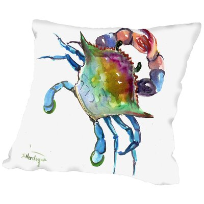 Crab Throw Pillow Size: 20 H x 20 W x 2 D