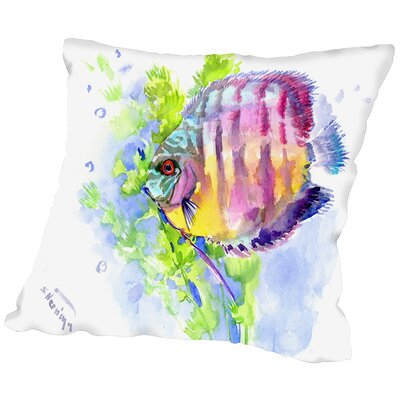 Discus Throw Pillow Size: 14 H x 14 W x 2 D