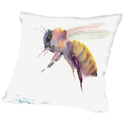 Honey Bee Throw Pillow Size: 18 H x 18 W x 2 D