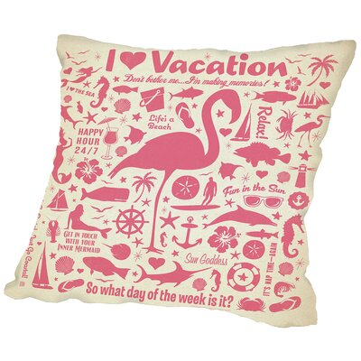 Flamingo Throw Pillow Size: 18 H x 18 W x 2 D