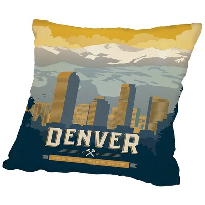 Denver Throw Pillow Size: 16