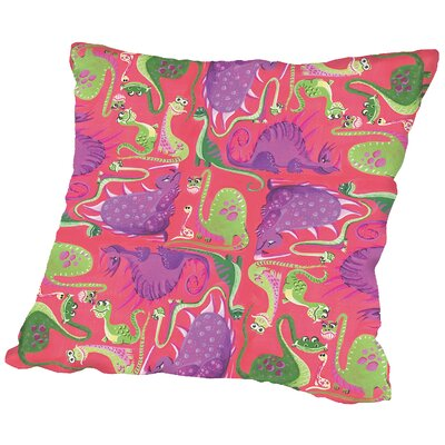 Dinosquare Throw Pillow Size: 18 H x 18 W x 2 D