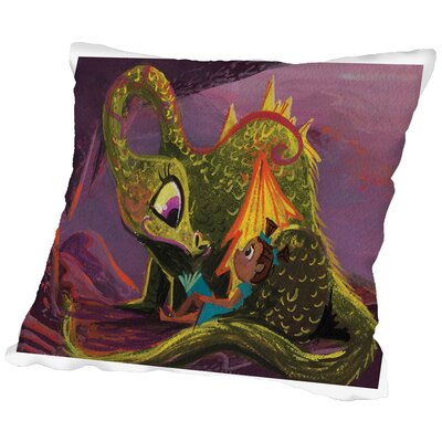 Dragonread Throw Pillow Size: 20 H x 20 W x 2 D