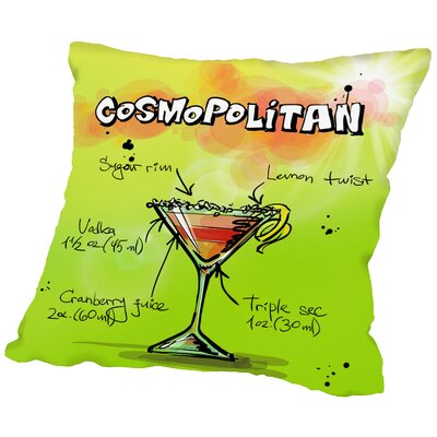 Cosmospolitan Cocktail Throw Pillow Size: 20