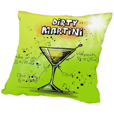Dirty Martini Docktail Throw Pillow Size: 18
