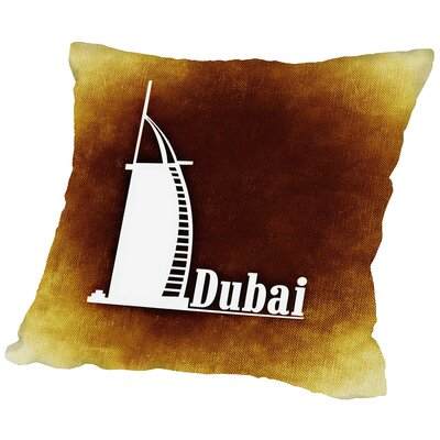 Dubai Throw Pillow Size: 18 H x 18 W x 2 D