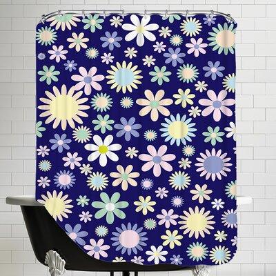 Floral Flower Work Shower Curtain