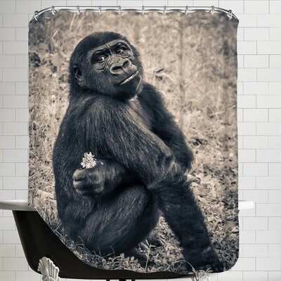 Chimpanzee Gorilla Shower Curtain