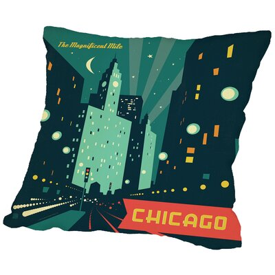 Chigago Magmile Throw Pillow Size: 14 H x 14 W x 2 D