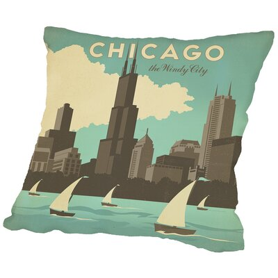 Chicago Widy City Throw Pillow Size: 16 H x 16 W x 2 D