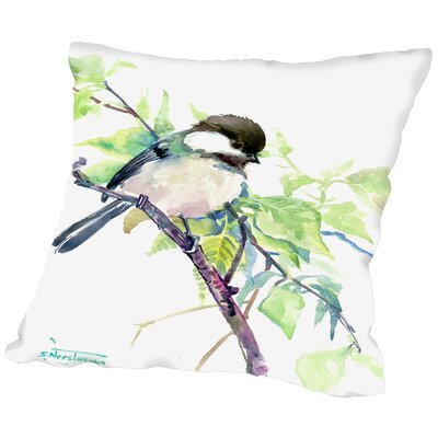 Chickadee Throw Pillow Size: 18 H x 18 W x 2 D