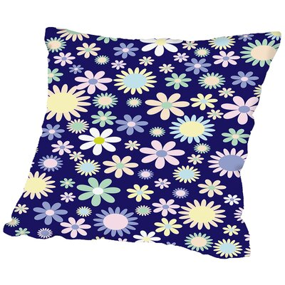 Floral Flower Work Throw Pillow Size: 14 H x 14 W x 2 D