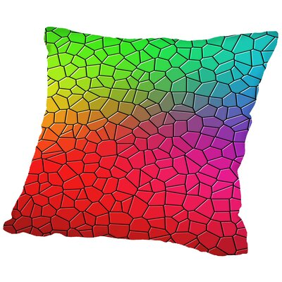 Mosaic Art Throw Pillow Size: 16 H x 16 W x 2 D