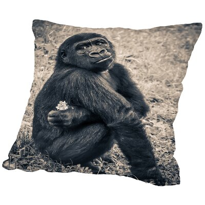 Chimpanzee Gorilla Throw Pillow Size: 16 H x 16 W x 2 D