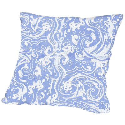 Waves Throw Pillow Size: 14 H x 14 W x 2 D