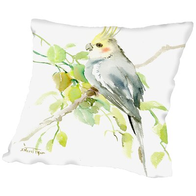 Cockatiel Throw Pillow Size: 18 H x 18 W x 2 D