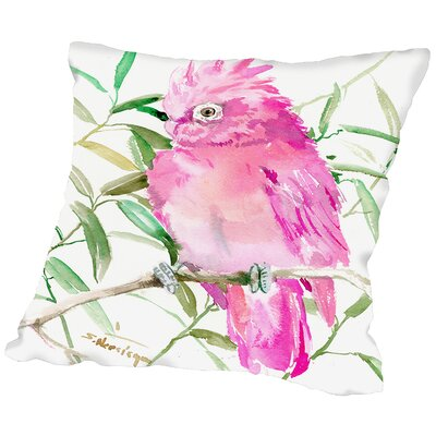 Cockatoo Throw Pillow Size: 18 H x 18 W x 2 D