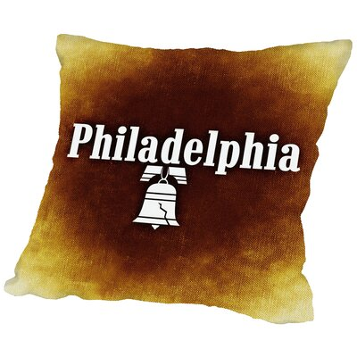 Philadelphia US Throw Pillow Size: 14 H x 14 W x 2 D