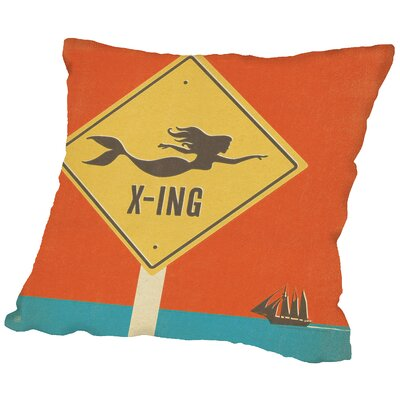 Mermaid Xing Throw Pillow Size: 14 H x 14 W x 2 D
