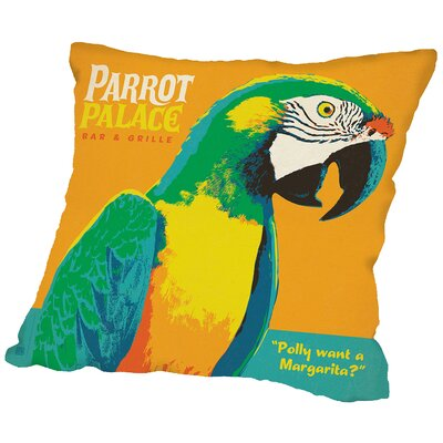 Parrot Palace Throw Pillow Size: 14 H x 14 W x 2 D